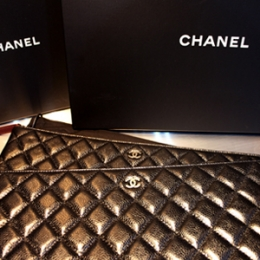 [Chanel]Cavier Clutch Large blck