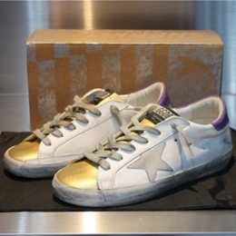 [Golden Goose]Superstar Low Gold/Purple