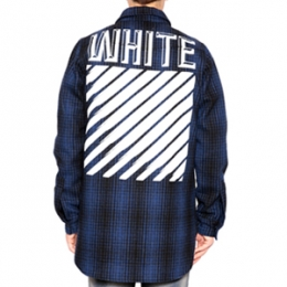 [Off White]Tartan Check Flannel Shirt