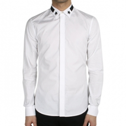 [Givenchy]Star Patch Banding Shirt Slim Fit