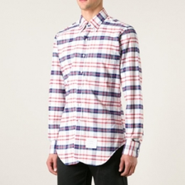 [Thom Browne]Hidden ThreeLine Check Shirt