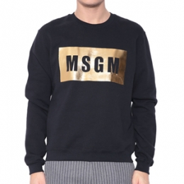 [MSGM] 15fw Logo cotton Sweatshirt 1940MM68 154798 99