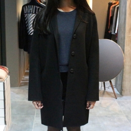 [ACNE] 15fw Elsa Over Coat 12M144 900 BLACK