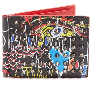 해외배송 [Christian Louboutin] 18ss Clipsos spike leather wallet