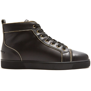 해외배송 [Christian Louboutin] 18ss Louis zip-trimmed high-top leather sneakers