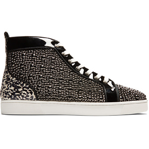 해외배송 [Christian Louboutin] 17fw Louis Orlato high-top leather sneakers