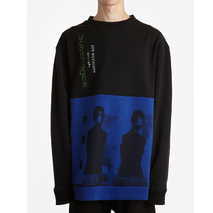 [Raf Simons] 18ss Black/Blue Oversize sweater