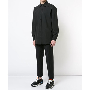 [Raf Simons] 18ss Substance Oversize Black Cotton Shirt