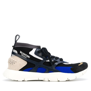 [Valentino] 18fw panelled lace-up sneakers  QY2S0A57SQL DMM
