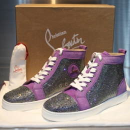 [Christian Louboutin]Swarovski High-top Purple