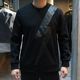 [Neil Barrett] 16fw Lightning Lather Sweatshirt PBJS127C B512C 01