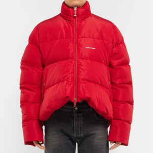 해외배송 [Balenciaga] 17fw Oversized Quilted Ripstop Down Jacket Red